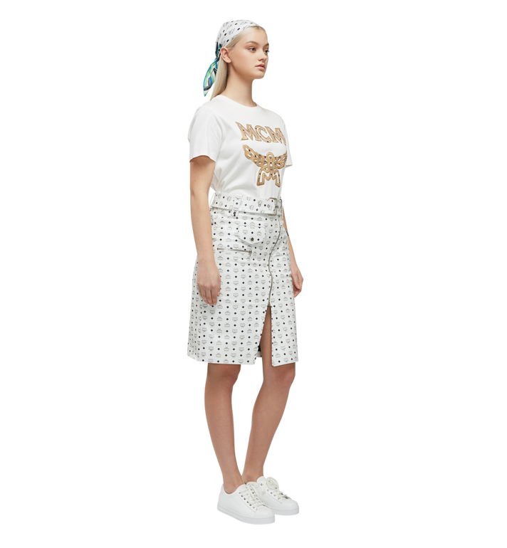 MCM Klassisches Damen T-Shirt mit Logo MFT8SMM11WI00L AlternateView6