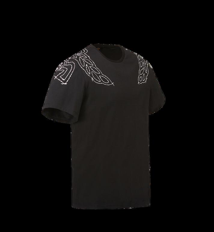 MCM Damen T-Shirt mit Lorbeer-Stickerei MFT8SMM22BK00M AlternateView2