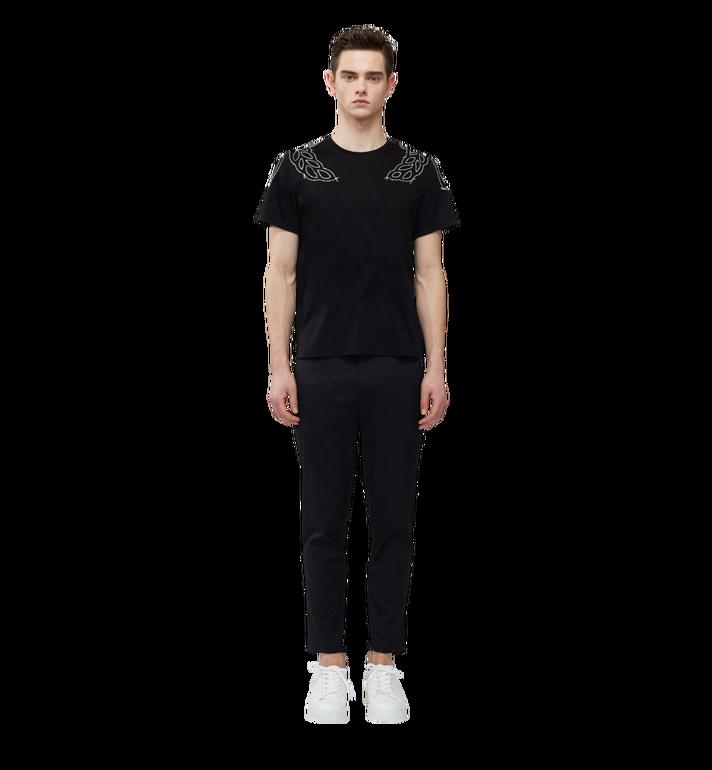 MCM Damen T-Shirt mit Lorbeer-Stickerei MFT8SMM22BK00M AlternateView4