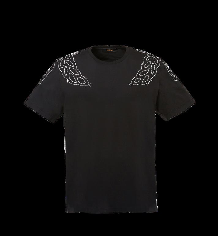 MCM Damen T-Shirt mit Lorbeer-Stickerei MFT8SMM22BK00S AlternateView