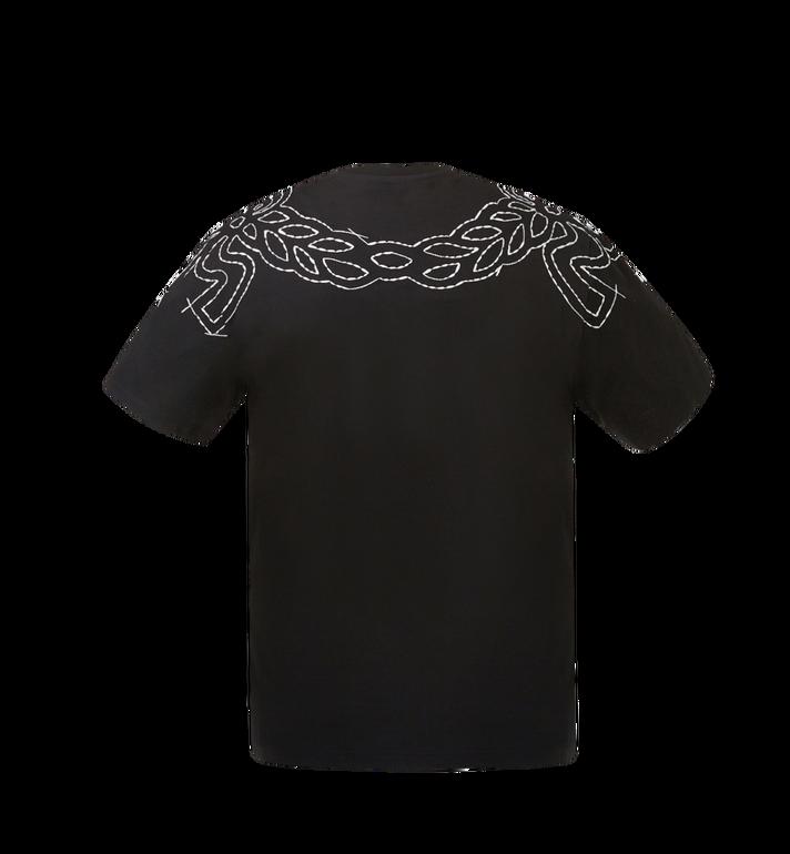 MCM Damen T-Shirt mit Lorbeer-Stickerei MFT8SMM22BK00S AlternateView3