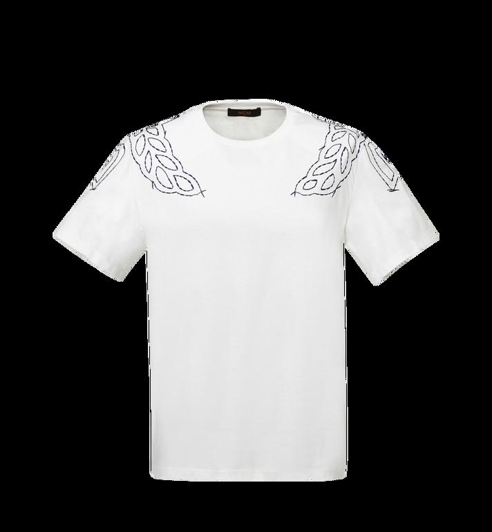 MCM Damen T-Shirt mit Lorbeer-Stickerei MFT8SMM22WI00M AlternateView