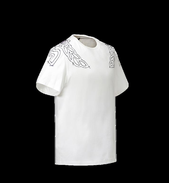 MCM Damen T-Shirt mit Lorbeer-Stickerei MFT8SMM22WI00M AlternateView2