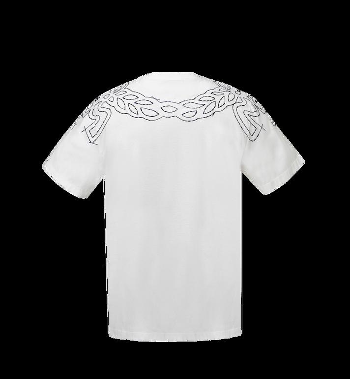MCM Damen T-Shirt mit Lorbeer-Stickerei MFT8SMM22WI00M AlternateView3