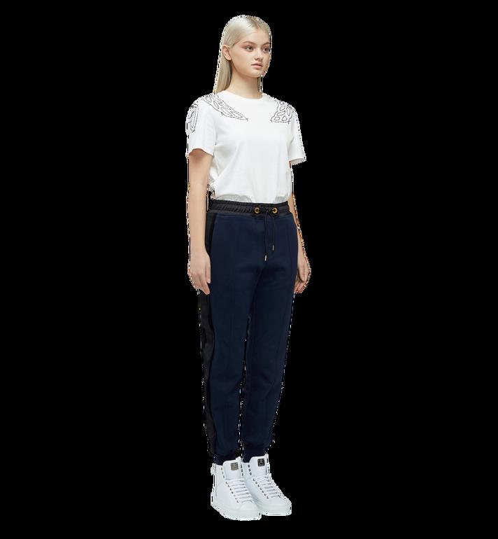MCM Damen T-Shirt mit Lorbeer-Stickerei MFT8SMM22WI00M AlternateView4