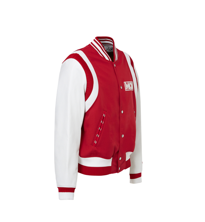 MCM Men's Classic Logo Stadium Jacket MHJ8SMM33RU00L AlternateView2
