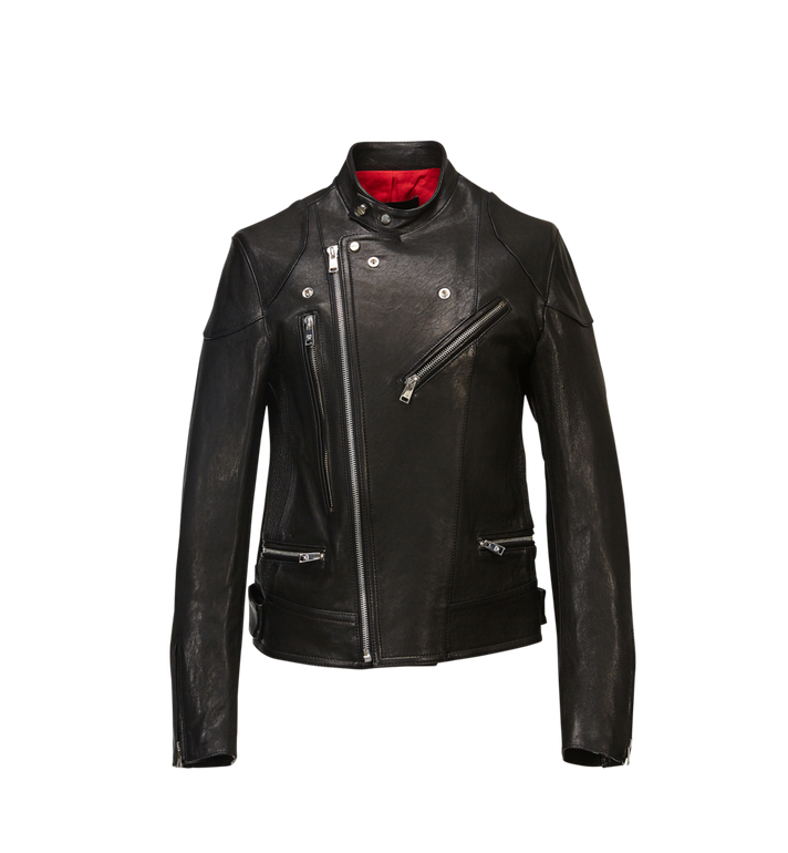 MCM Men's Leather Rider Jacket MHJ8SMM67BK00M AlternateView