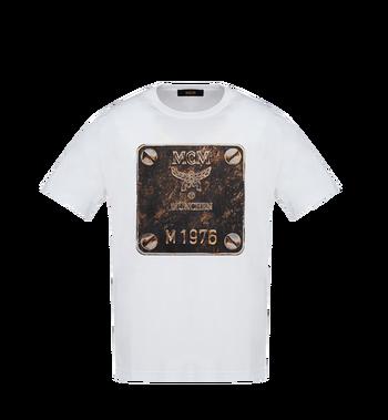 MCM Herren T-Shirt mit Messingplakette MHT8AMM01WT00L AlternateView