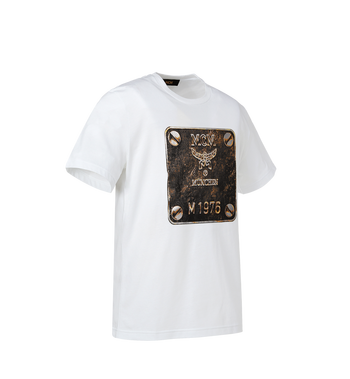MCM Herren T-Shirt mit Messingplakette MHT8AMM01WT00L AlternateView2