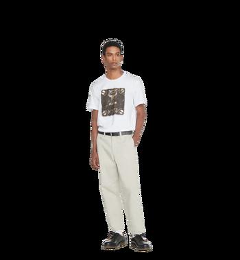 MCM Herren T-Shirt mit Messingplakette MHT8AMM01WT00L AlternateView4