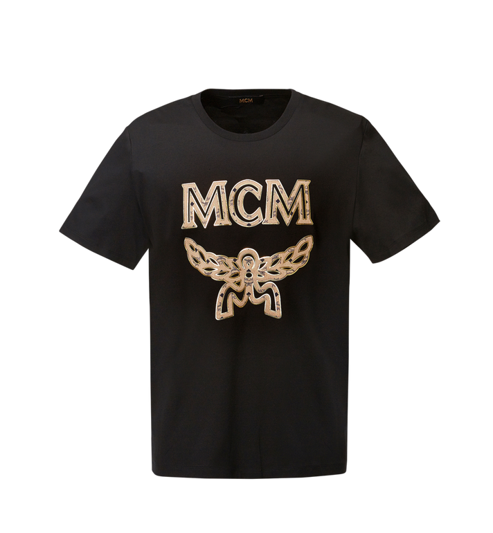 MCM Men's Classic Logo T-Shirt MHT8SMM10BK00M AlternateView1