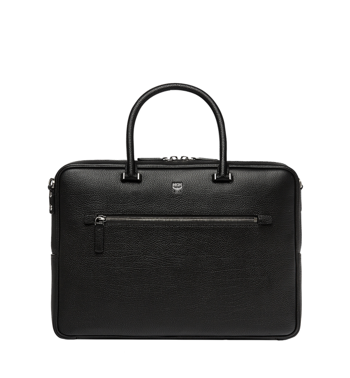 MCM Porte-documents Ottomar en cuir grainé MMF7SOT05BK001 AlternateView1