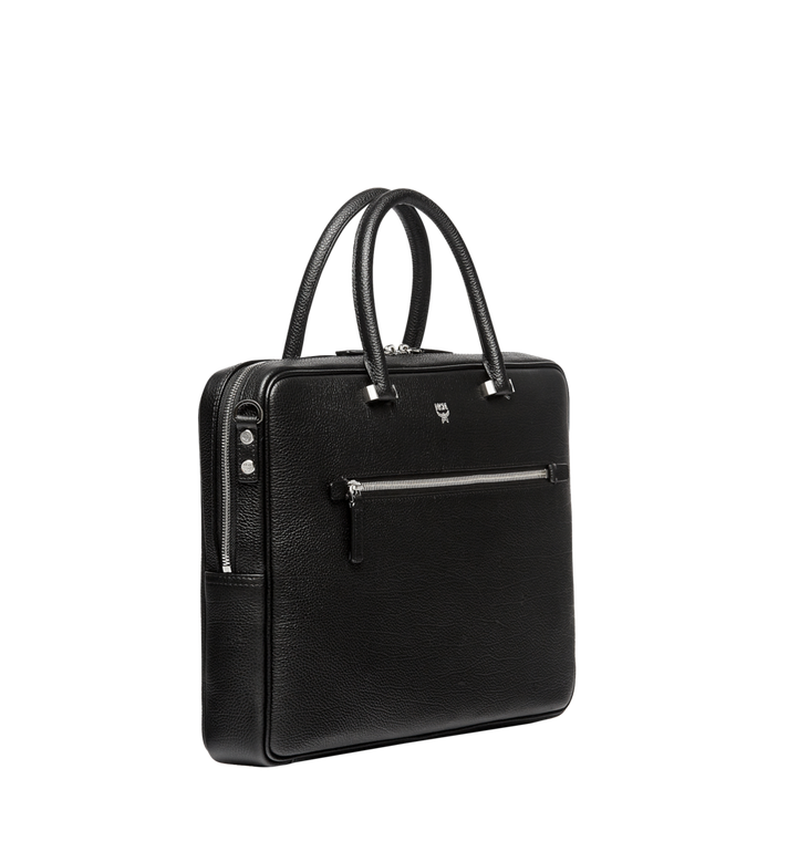 MCM Ottomar Briefcase in Grained Leather MMF7SOT05BK001 AlternateView2