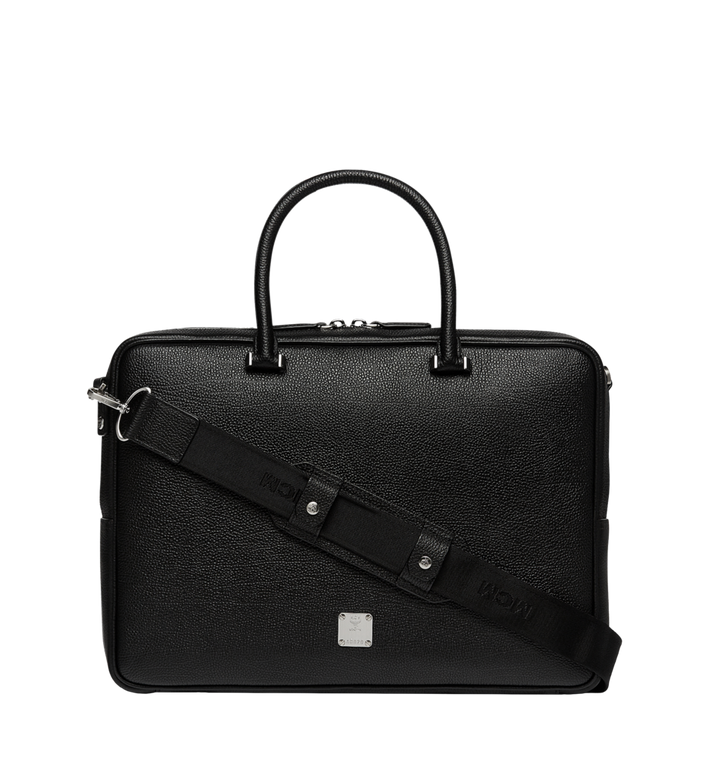 MCM Ottomar Briefcase in Grained Leather MMF7SOT05BK001 AlternateView4