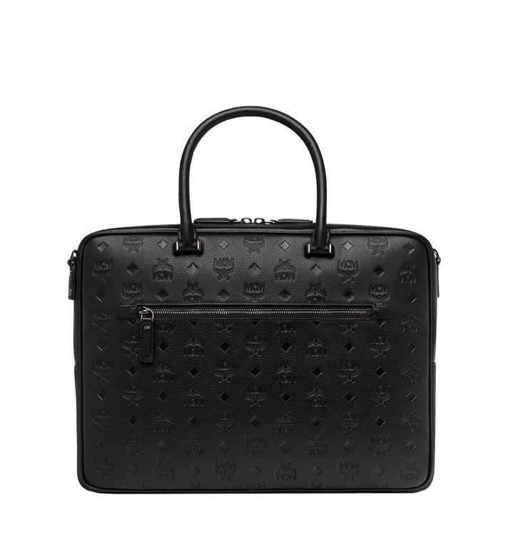 MCM Ottomar Briefcase in Monogram Leather MMF8SOT02BK001 AlternateView1