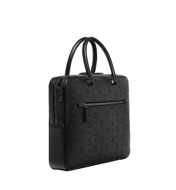 MCM Ottomar Briefcase in Monogram Leather MMF8SOT02BK001 AlternateView2