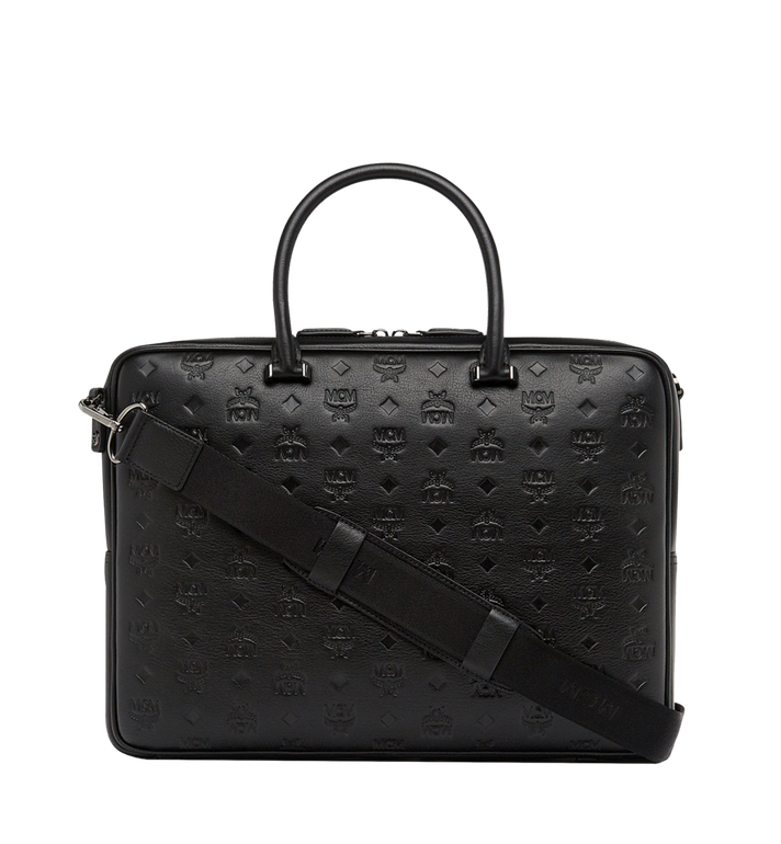 MCM Ottomar Briefcase in Monogram Leather MMF8SOT02BK001 AlternateView4