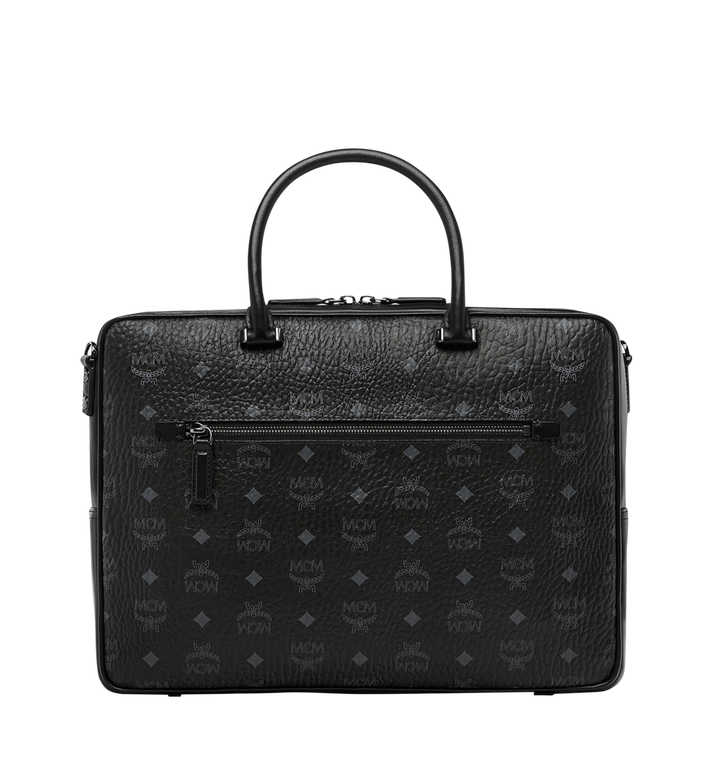 MCM Ottomar Briefcase in Visetos MMF8SOT44BK001 AlternateView