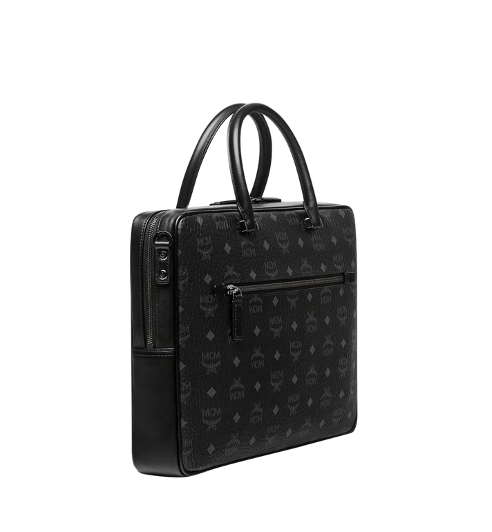 MCM Ottomar Briefcase in Visetos MMF8SOT44BK001 AlternateView2