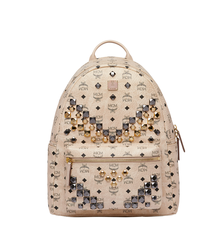 MCM Stark M Studs Backpack in Visetos MMK6AVE18IG001 AlternateView