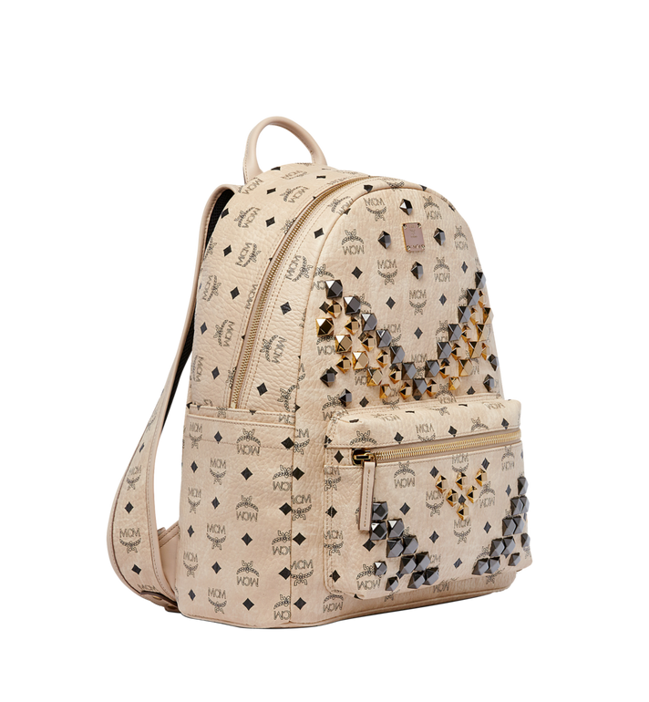 MCM Stark M Studs Backpack in Visetos MMK6AVE18IG001 AlternateView2