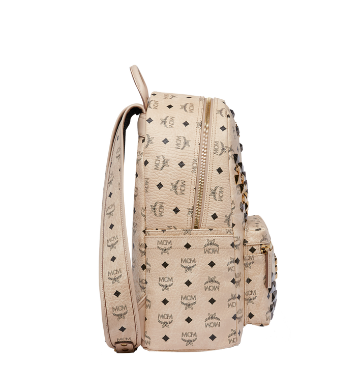 MCM Stark M Studs Backpack in Visetos MMK6AVE18IG001 AlternateView3