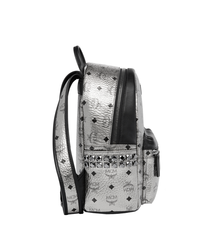 MCM Stark Side Studs Rucksack in Visetos MMK6AVE43SV001 AlternateView3