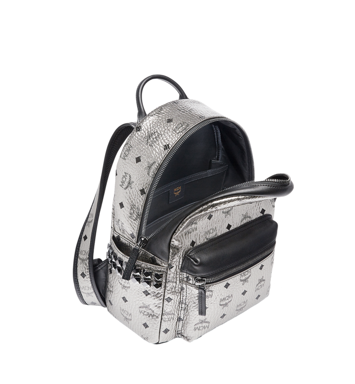 MCM Stark Side Studs Rucksack in Visetos MMK6AVE43SV001 AlternateView5