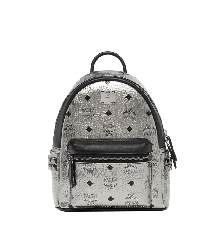 MCM Stark Side Studs Backpack in Visetos MMK6AVE47SV001 AlternateView