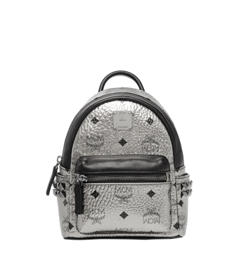 MCM Stark Side Studs Bebe Boo Backpack in Visetos MMK6AVE50SV001 AlternateView