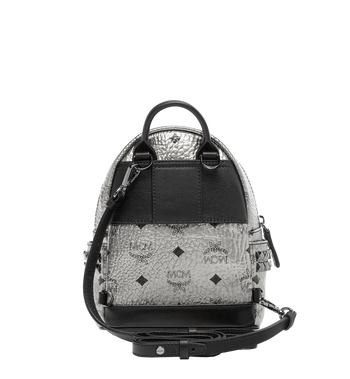MCM Stark Side Studs Bebe Boo Backpack in Visetos MMK6AVE50SV001 AlternateView6