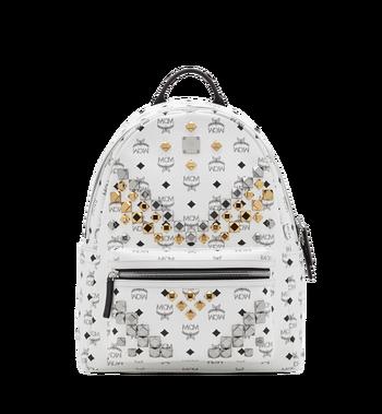 MCM Stark M Studs Backpack In Visetos MMK6SVE18WT001 AlternateView