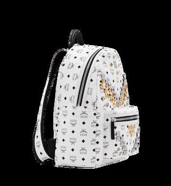 MCM Stark M Studs Backpack In Visetos MMK6SVE18WT001 AlternateView2
