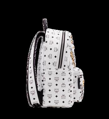 MCM Stark M Studs Backpack In Visetos MMK6SVE18WT001 AlternateView3