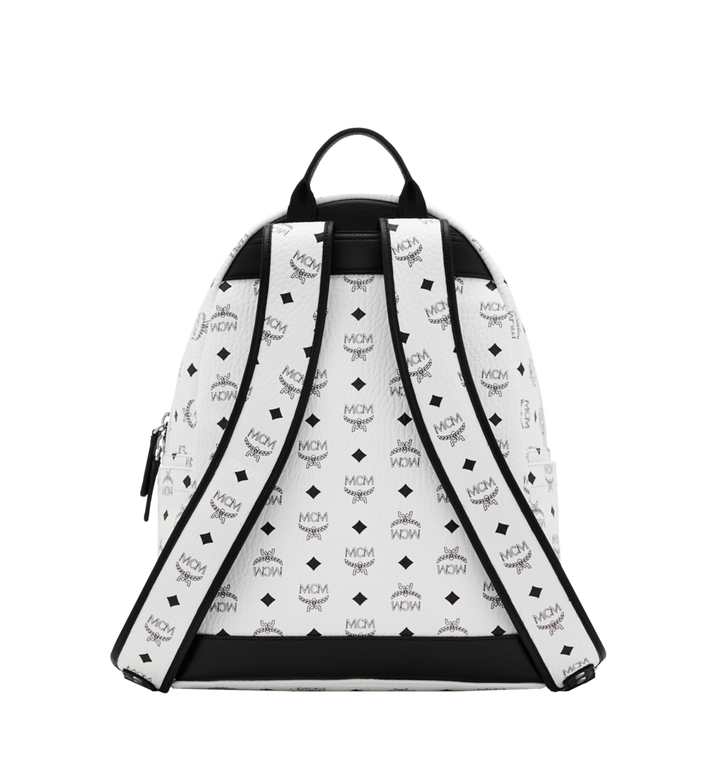 MCM Stark M Studs Backpack In Visetos MMK6SVE18WT001 AlternateView4