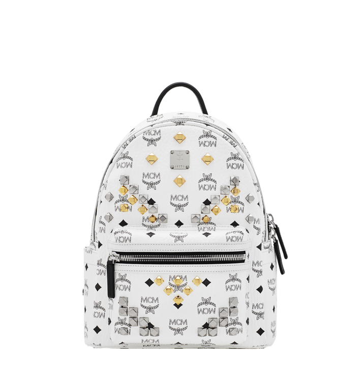 MCM Stark M Studs Rucksack in Visetos MMK6SVE19WT001 AlternateView