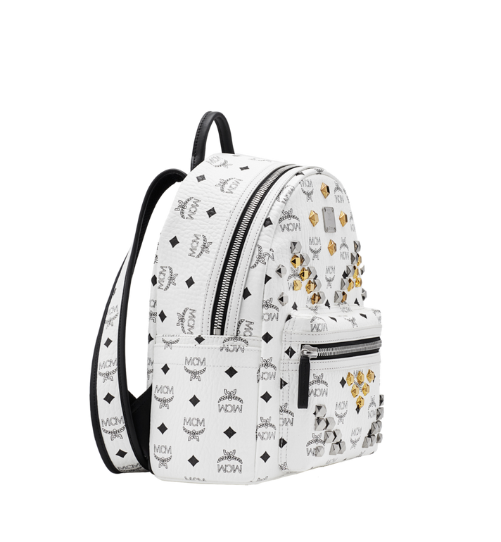 MCM Stark M Studs Rucksack in Visetos MMK6SVE19WT001 AlternateView2