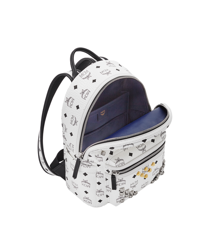 MCM Stark M Studs Rucksack in Visetos MMK6SVE19WT001 AlternateView5