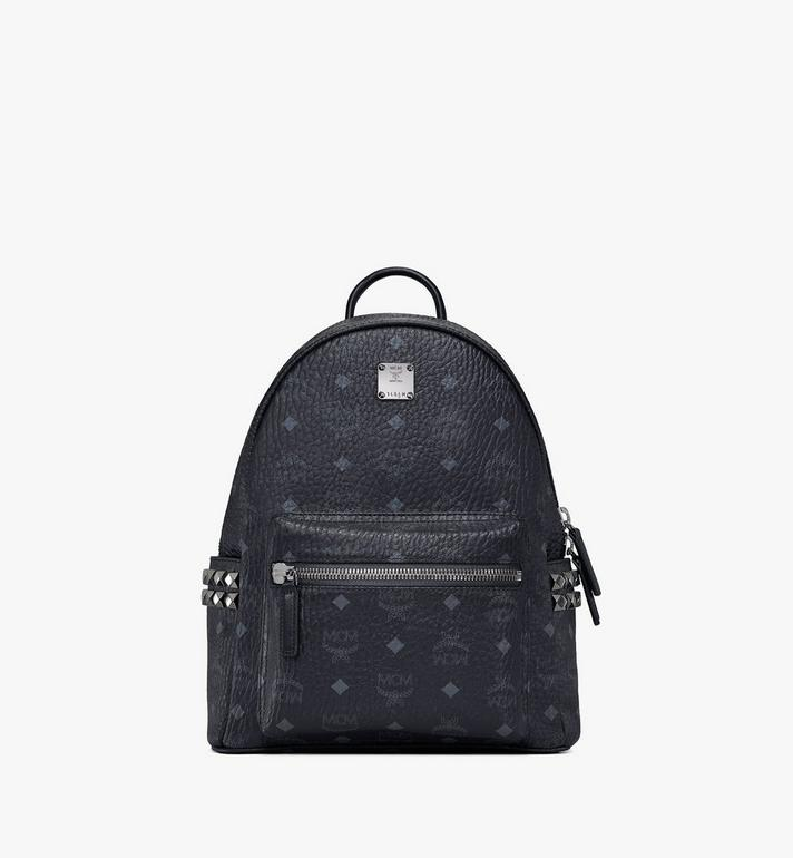 MCM Stark Side Studs Backpack in Visetos MMK6SVE37BK001 AlternateView1
