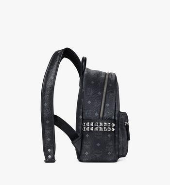 MCM Stark Side Studs Backpack in Visetos MMK6SVE37BK001 AlternateView2