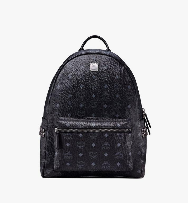 MCM Stark Side Studs Backpack in Visetos MMK6SVE38BK001 AlternateView