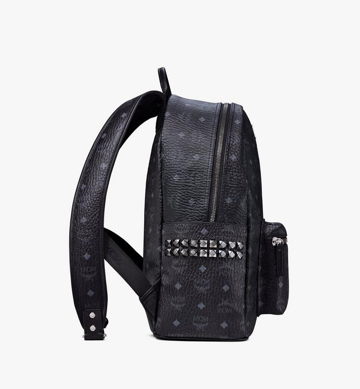MCM Stark Side Studs Backpack in Visetos MMK6SVE38BK001 AlternateView2