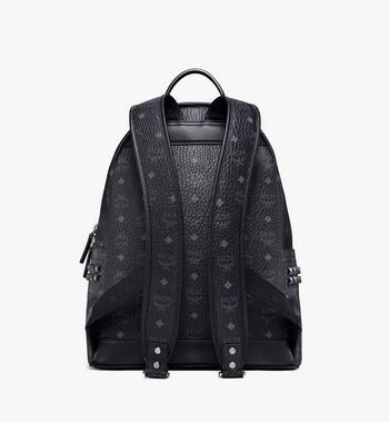 MCM Stark Side Studs Backpack in Visetos MMK6SVE38BK001 AlternateView4