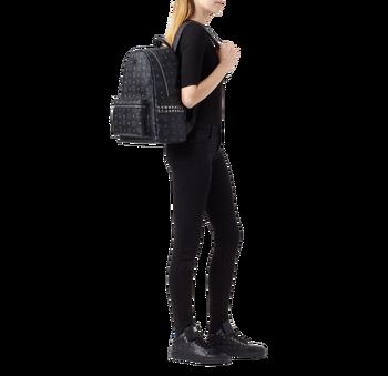 MCM Stark Side Studs Backpack in Visetos MMK6SVE38BK001 AlternateView6
