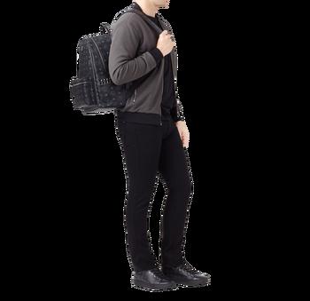 MCM Stark Side Studs Backpack in Visetos MMK6SVE38BK001 AlternateView7