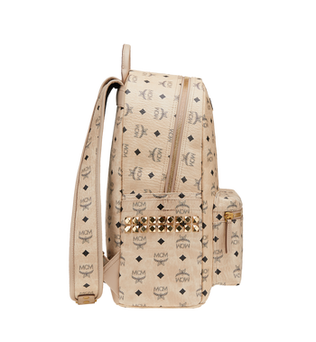 MCM Stark Side Studs Backpack in Visetos MMK6SVE38IG001 AlternateView3