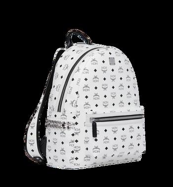 MCM Stark Side Studs Backpack in Visetos MMK6SVE38WT001 AlternateView2
