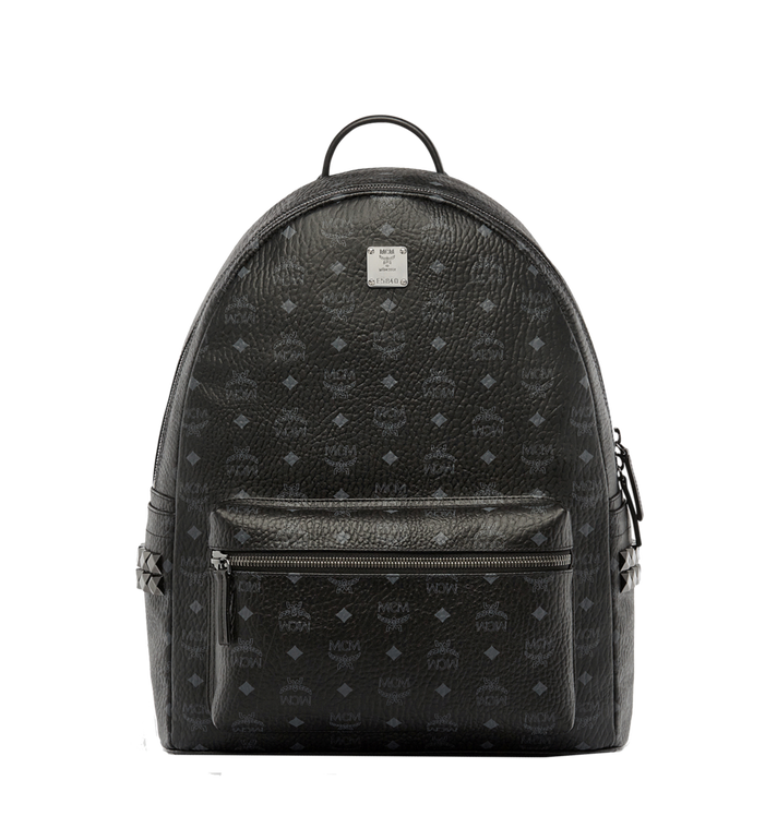MCM Stark Side Studs Backpack in Visetos MMK6SVE39BK001 AlternateView1