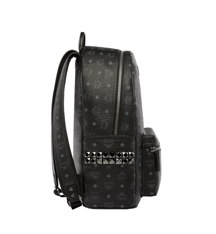MCM Stark Side Studs Backpack in Visetos MMK6SVE39BK001 AlternateView3