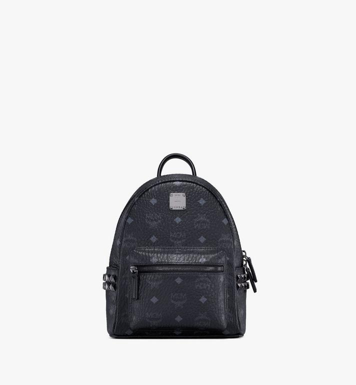 MCM Stark Side Studs Backpack in Visetos MMK6SVE41BK001 AlternateView